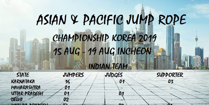 ASIAN & PACIFIC JUMP ROPE CHAMPIONSHIP – 2019